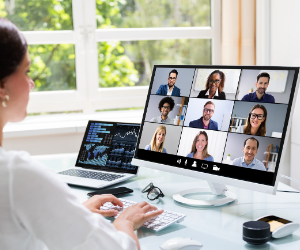 Sales Managers Remote Team Meeting